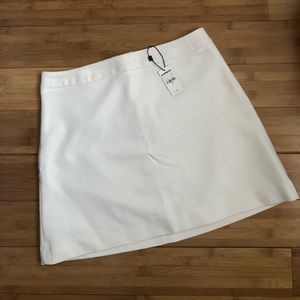Express white mini skirt